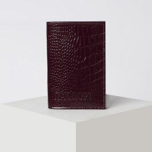 Обложка для паспорта, цвет бордовый TEXTURA