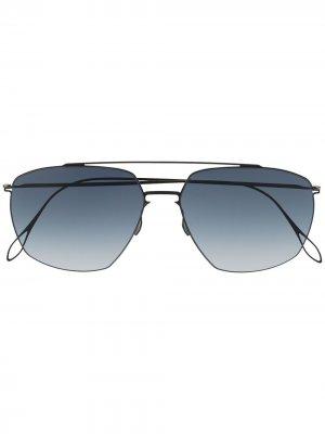 Солнцезащитные очки-авиаторы Noah Haffmans & Neumeister. Цвет: черный