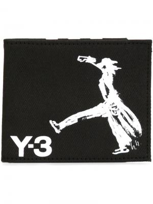 Drawing print wallet Y-3. Цвет: чёрный