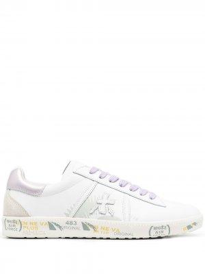 Кроссовки на шнуровке Premiata. Цвет: белый