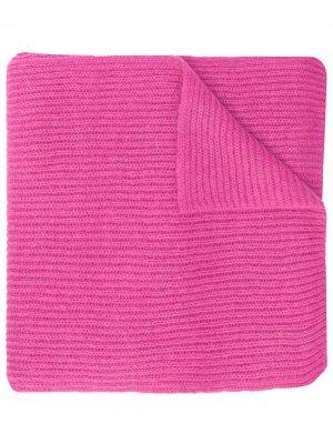 Вязаный шарф Rochas. Цвет: розовый