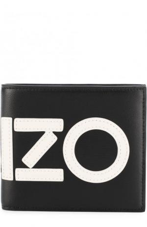 Кожаное портмоне с отделениями для кредитных карт Kenzo. Цвет: черный