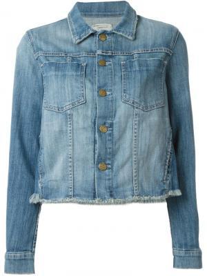 Джинсовая куртка с необработанными краями Current/Elliott. Цвет: синий