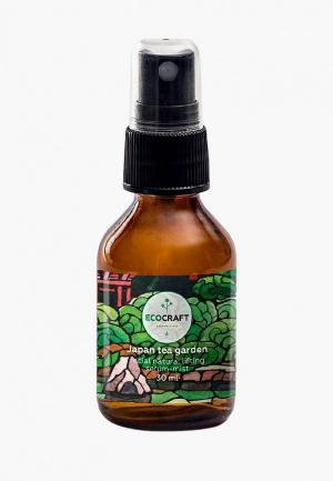 Сыворотка для лица Ecocraft лифтинг-эффектом Japanese tea garden. Цвет: белый