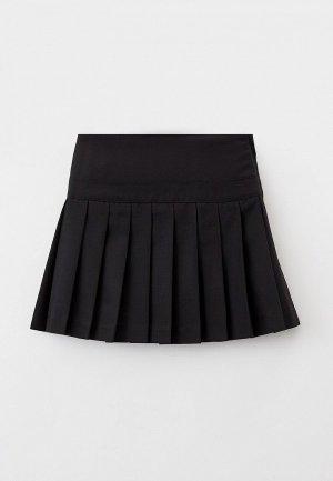 Юбка Button Blue. Цвет: черный
