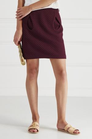 Фактурная юбка HOSS INTROPIA. Цвет: фиолетовый