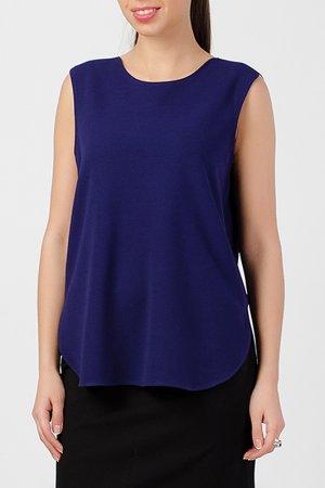 Блузка TUZUN. Цвет: ярко-синий