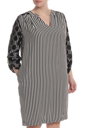 Платье 22MAGGIO. Цвет: черный, полосы