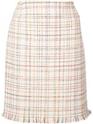 Твидовая юбка с принтом Akris Punto
