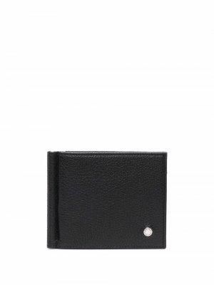 Бумажник из зернистой кожи Orciani. Цвет: черный