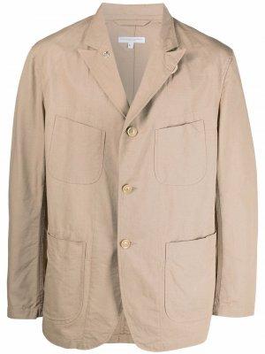 Однобортный пиджак Bedford Engineered Garments. Цвет: нейтральные цвета