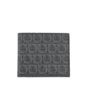 Бумажник SALVATORE FERRAGAMO. Цвет: серый