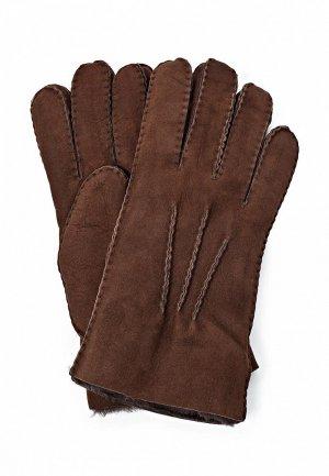Перчатки UGG Australia UG174DMJG901. Цвет: коричневый