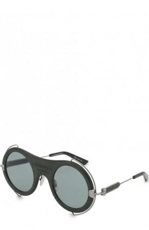 Солнцезащитные очки CALVIN KLEIN 205W39NYC. Цвет: серый