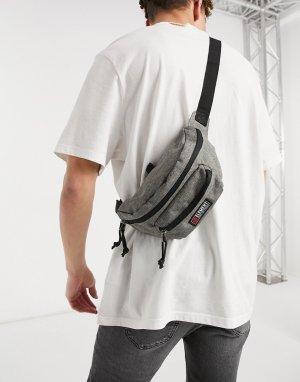 Серая сумка-кошелек на пояс Posse-Серый Element