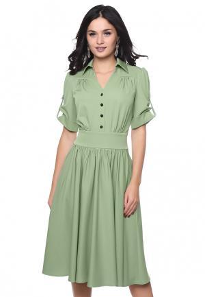 Платье Grey Cat KLAIYDY. Цвет: зеленый