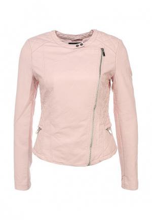 Куртка кожаная Concept Club. Цвет: розовый