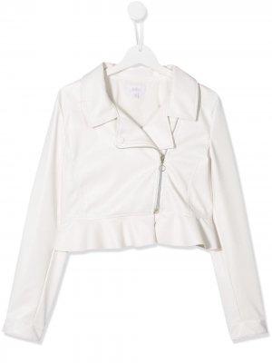 TEEN faux-leather biker jacket Aletta. Цвет: белый
