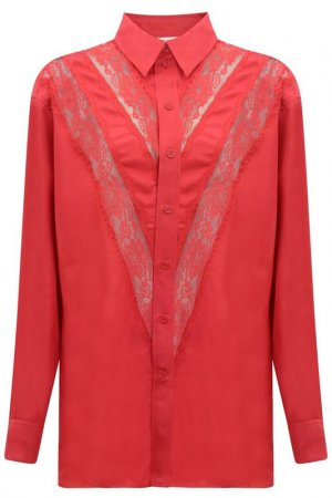 Блузка Celine. Цвет: красный