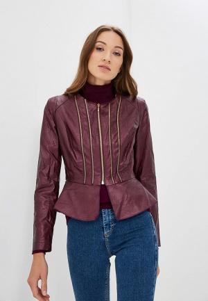 Куртка кожаная Rinascimento. Цвет: бордовый