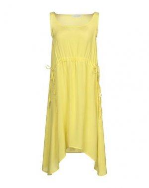 Короткое платье CAFèNOIR. Цвет: желтый