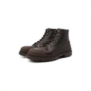 Кожаные ботинки Brunello Cucinelli. Цвет: коричневый