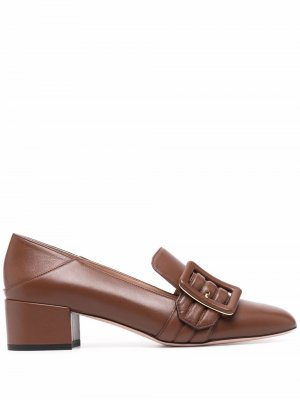 Collapsable-back leather loafers Bally. Цвет: коричневый