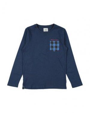 Футболка HENRY COTTON'S. Цвет: темно-синий