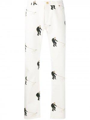 Прямые джинсы Aristotle Casablanca. Цвет: белый