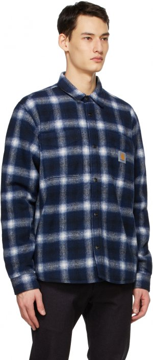 Blue Check Lashley Shirt Carhartt Work In Progress. Цвет: 1c90 navy