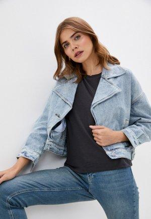 Куртка джинсовая Grafinia. Цвет: голубой