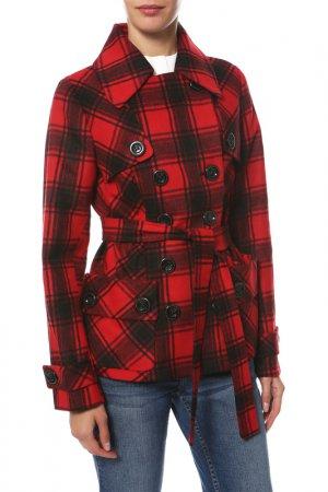 Пальто Frizman. Цвет: красно-черный