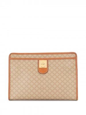 Macadam pattern clutch Céline Pre-Owned. Цвет: коричневый