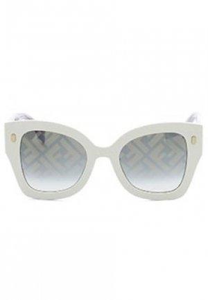 Солнцезащитные очки FENDI. Цвет: бежевый