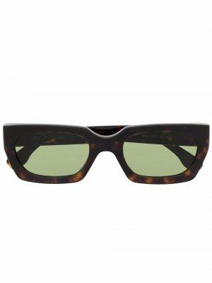 Солнцезащитные очки Teddy в прямоугольной оправе Retrosuperfuture. Цвет: коричневый