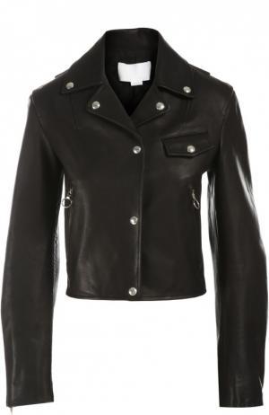 Куртка кожаная Alexander Wang. Цвет: черный