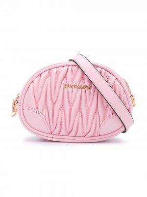 Поясная сумка с логотипом Monnalisa. Цвет: розовый