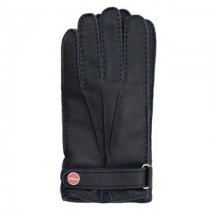 Кожаные перчатки Kiton. Цвет: синий
