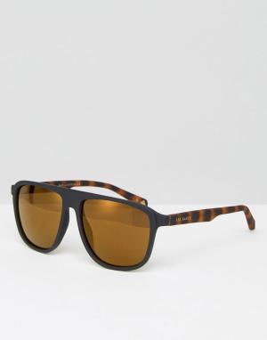 Солнцезащитные очки‑авиаторы Ted Baker. Цвет: черный