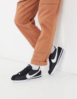 Черные нейлоновые кроссовки Nike Classic Cortez 819720-011-Черный