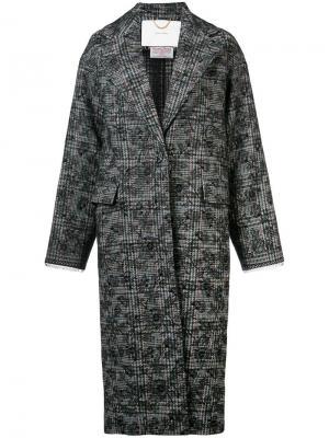 Твидовое пальто Adam Lippes. Цвет: черный