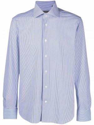 Рубашка с закругленным подолом Corneliani. Цвет: синий