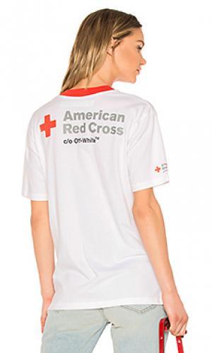 Свободная майка red cross OFF-WHITE. Цвет: белый
