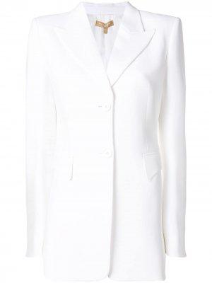 Single breasted blazer Michael Kors Collection. Цвет: белый