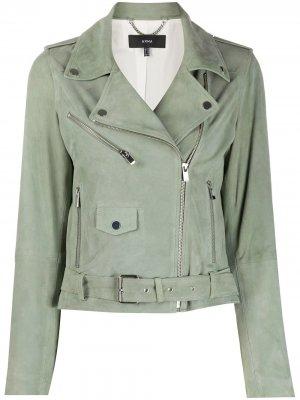 Байкерская куртка с заклепками Arma. Цвет: зеленый