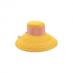 Шляпа Eugenia Kim. Цвет: жёлтый