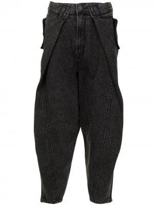 Зауженные джинсы оверсайз SONGZIO. Цвет: черный