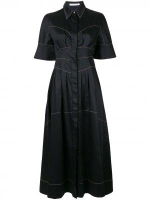 Платье Rubin с контрастной строчкой CAMILLA AND MARC. Цвет: черный