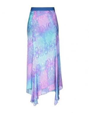 Длинная юбка DANIELA DREI. Цвет: светло-фиолетовый