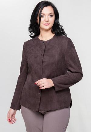 Куртка кожаная Limonti. Цвет: коричневый